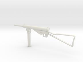 1:6 Miniature MP 3008 Gun in White Natural Versatile Plastic