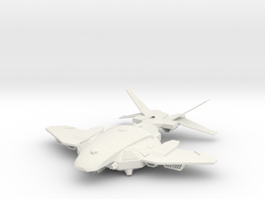 HH-130 Ja'awk-Class Heavy Gunship in White Natural Versatile Plastic