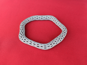 Irregular Bracelet (Size XL) in Polished Metallic Plastic