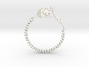 Old Telephon Ring in White Natural Versatile Plastic: 9 / 59