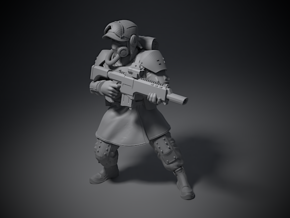 Guardsmen - D in Smoothest Fine Detail Plastic