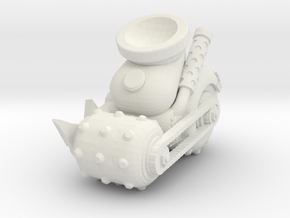 Space Orks MotorHedz Wheels Legs  Type 02 in White Natural Versatile Plastic