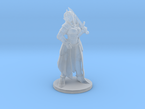 Zelda with sword 1/60 miniature for fantasy games  in Smooth Fine Detail Plastic