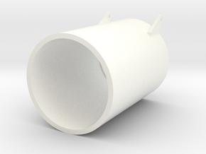 SEEHUND Typ127 XXVII 1:24 Turmsüll (lang) in White Processed Versatile Plastic