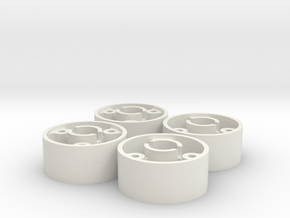 ass 4 jantes avant D19 flans plat +0,5 shapeways in White Natural Versatile Plastic