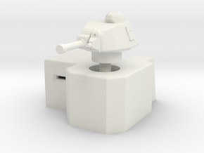 Bunker with Somua S35 turret 1/87 in White Natural Versatile Plastic