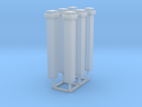 1:160 Brick Chimneys (6) in Smooth Fine Detail Plastic