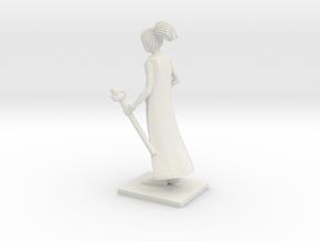 Fantasy Figures 06 - Sorcerer in White Natural Versatile Plastic