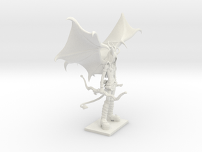 Fantasy Figures 21 - Half Demon in White Natural Versatile Plastic