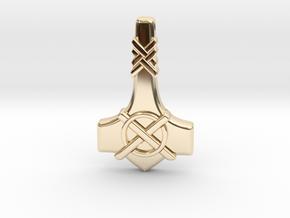 Thor's Hammer Mjolnir  - Type-1 in 14K Yellow Gold
