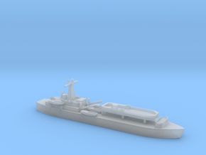 1/1800 Scale British LST-3 with LCT 6 in Smooth Fine Detail Plastic