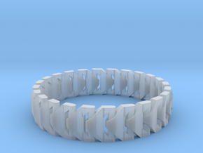 Large Articulating Print in Place Bracelet Version in Smooth Fine Detail Plastic