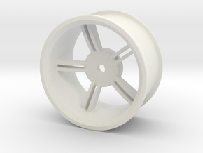Drift Wheel 8mm Offset in White Natural Versatile Plastic