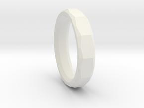 Geometric Men's ring in White Natural Versatile Plastic