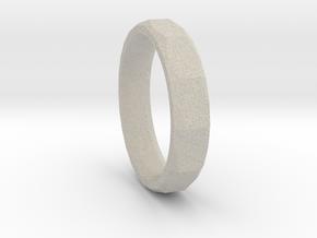 Geometric Men's ring in Natural Sandstone