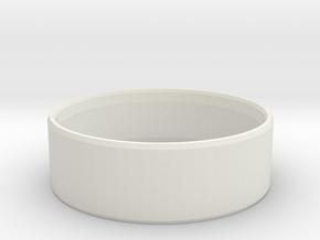 Simplistic Men's Ring  in White Natural Versatile Plastic: 10 / 61.5