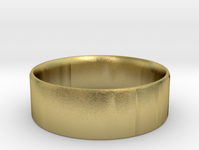 Simplistic Men's Ring  in Natural Brass: 10 / 61.5