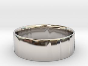 Simplistic Men's Ring  in Rhodium Plated Brass: 10 / 61.5