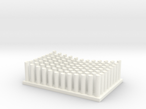 Design9_concave_round_6d_stl_OUT4 in White Processed Versatile Plastic