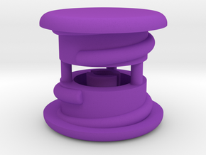 Thumbwheel Caps x 2 (PART CPGIZ22) in Purple Processed Versatile Plastic