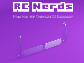 RCN216 Light lenses for Team Raffee Jeep Cherokee  in Smoothest Fine Detail Plastic