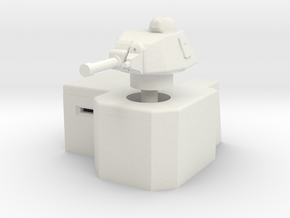 Bunker with Somua S35 turret 1/120 in White Natural Versatile Plastic