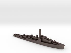 HMS Loch Shin 1:1800 WW2 frigate in Polished Bronzed-Silver Steel