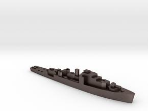 HMS Loch Shin 1:3000 WW2 frigate in Polished Bronzed-Silver Steel
