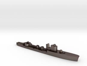 Italian Spica class WW2 torpedo boat 1:1800 in Polished Bronzed-Silver Steel