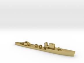 Italian Spica class WW2 torpedo boat 1:3000 in Natural Brass