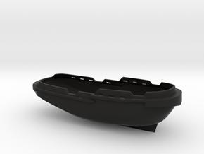 1/96 scale Tugboat Justice in Black Natural Versatile Plastic