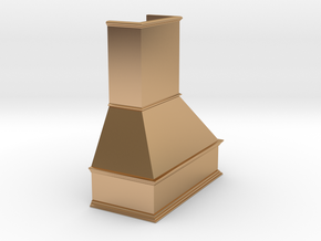 Miniature Chimney Hood 1:24 Scale in Polished Bronze