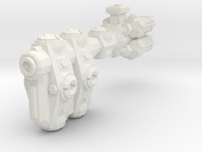 XM204 Goulonat Defence Cruiser in White Natural Versatile Plastic