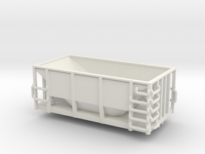 DMIR Ore Car U31 - HOscale in White Natural Versatile Plastic