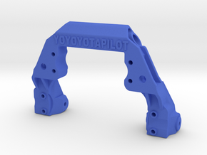 TRX-4 V1 servo on axle mount and 4-link adapter in Blue Processed Versatile Plastic