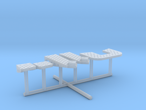 1/96 IJN Yamato Bridge Structure Platforms Part 5 in Smooth Fine Detail Plastic