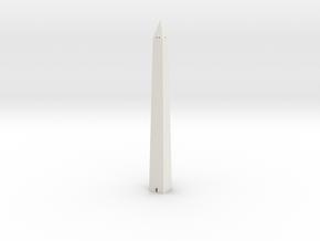 Washington Monument 1/1000 in White Natural Versatile Plastic