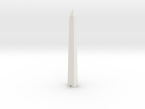 Washington Monument 1/1250 in White Natural Versatile Plastic
