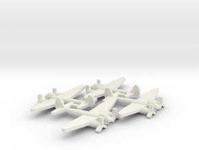 German JU-88 Bomber Aircraft (x4) in White Natural Versatile Plastic