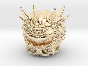 Doom Cacodemon Classic 1/60 miniature games rpg in 14K Yellow Gold