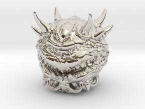 Doom Cacodemon Classic 1/60 miniature games rpg in Rhodium Plated Brass