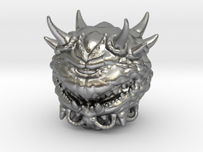 Doom Cacodemon Classic 1/60 miniature games rpg in Natural Silver