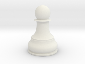 Chess Piece - Single Pawn in White Natural Versatile Plastic