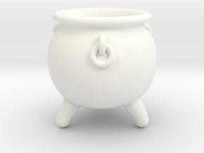 Cauldron miniature in White Processed Versatile Plastic