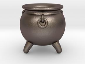 Cauldron miniature in Polished Bronzed-Silver Steel
