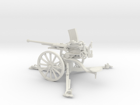 1/35 IJA Type 98 20mm anti-aircraft gun in White Natural Versatile Plastic