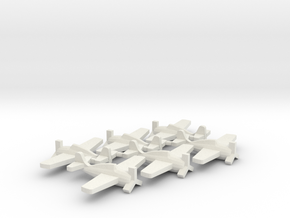 US F4F Wildcat Fighter Aircraft in White Natural Versatile Plastic