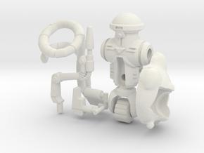 Roadkill Rodney Figure Kit (multisize) in White Natural Versatile Plastic: Medium