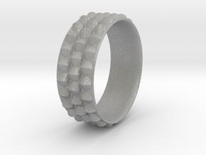 Dragon Scales Ring in Aluminum: 6 / 51.5
