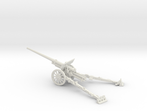 1/72 IJA Type 92 105mm field gun in White Natural Versatile Plastic